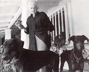 famous doberman owner Bea Arthur