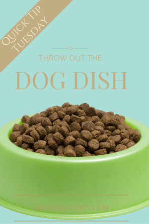 tip on dog food bowls to use