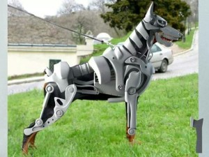 doberman mechanical robot costume