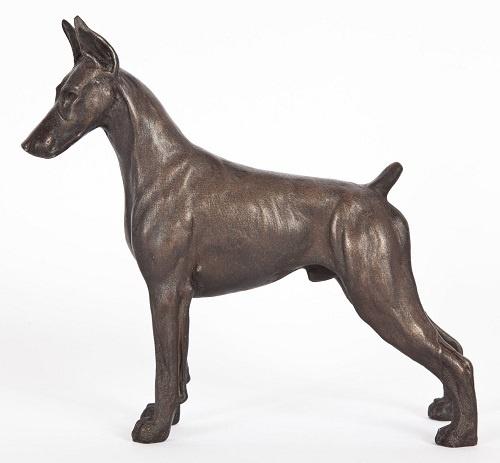 bronze doberman statue