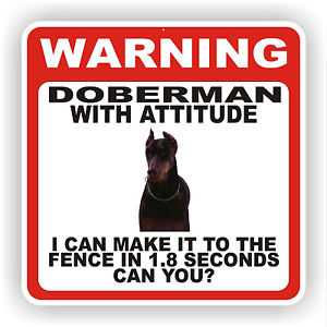 doberman warning sign
